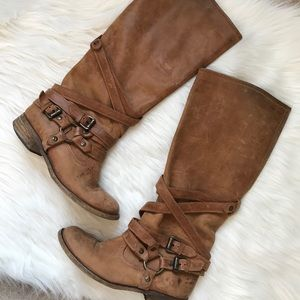 Steve Madden Salerno Tan Leather Boots